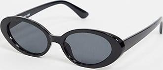 Noisy May Occhiali da sole ovali rétro neri-Nero