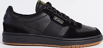 Polo Ralph Lauren trainer in black with gold logo Exclusive to ASOS
