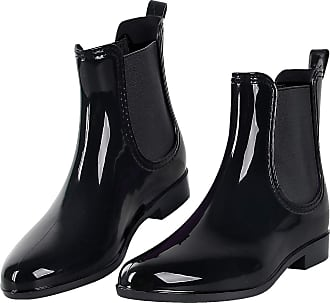 iLoveSIA Rain Boots Wellies Waterproof Anti-Slip Comfortable Woman Garden Working Shoes for Ladies Black Size 7.5 UK