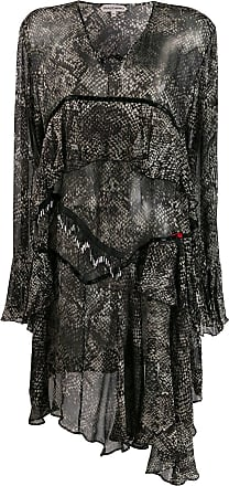 Giacobino Vestido com animal print - Preto