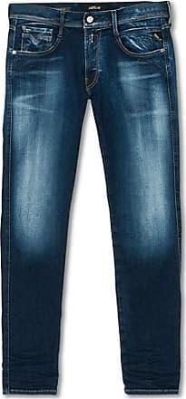Replay Jeans ANBASS W38//L34 12,5 oz bright redcast stretch denim Herren blau