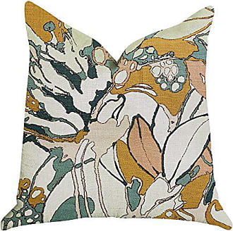 Plutus Brands Camellia Floral Double Sided King Luxury Throw Pillow 20 x 36 Green/Beige/Brown