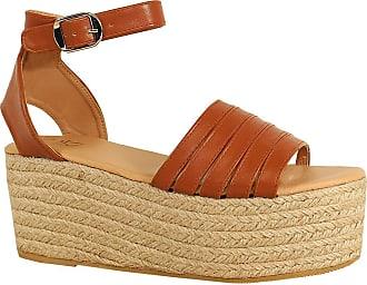 Yoki Womens Harmony Wedge Sandal, Rust, 4.5 UK