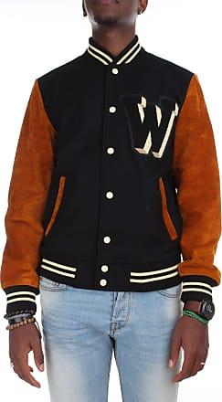 Wrangler Mens Baseball Jacket Lined Varsity Wool Body Leather Sleeve Bomber (S)