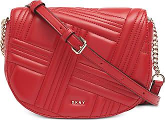 DKNY Allen Leather Saddle Bag RED