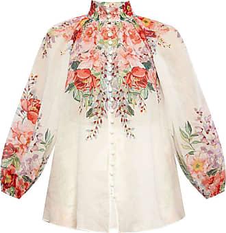 Zimmermann Floral Print Shirt Womens White