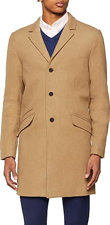 Only & Sons Mens Onsjulian Solid Wool Coat, Brown (Lead Gray Lead Gray), Small