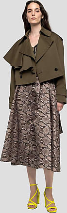 Msgm python print skirt in polyester