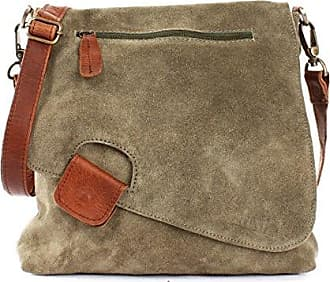7d48550f6c05a7 Leconi Umhängetasche für Damen Crossbag Veloursleder Echtleder Natur  Damentasche Schultertasche Ledertasche Freizeittasche für Frauen Wildleder  Handtasche