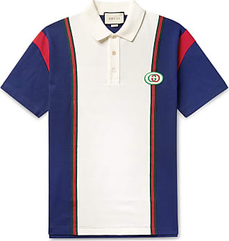 22a2c4428 Gucci Logo-appliquéd Webbing-trimmed Cotton-jersey Polo Shirt - White