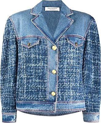 Philosophy di Lorenzo Serafini tweed panel denim jacket - Blue