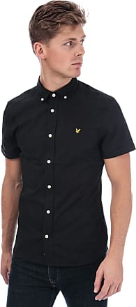 Lyle & Scott Lyle and Scott Men Short Sleeve Slim Stretch Poplin Shirt - S True Black