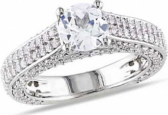 Zales 6.5mm Lab-Created White Sapphire Engagement Ring in Sterling Silver