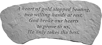 Kay Berry A Heart Of Gold Stopped Beating Heart Shaped Memorial Stone - Horizontal Slab - 37420