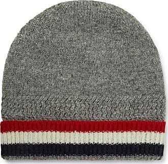 Thom Browne Striped Shetland Wool Beanie - Gray