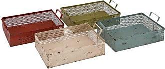 UMA Enterprises Inc. Deco 79 Metal Basket 4 Assorted, 18 by 6