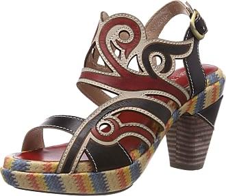 Laura Vita Womens Ficnalo 01 Open Toe Sandals, (Noir Noir), 8 UK