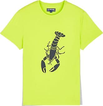 Vilebrequin Men Cotton T-Shirt Lobster 3D - Lemongrass - L