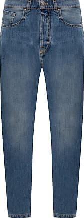Lanvin Jeans With Logo Mens Blue