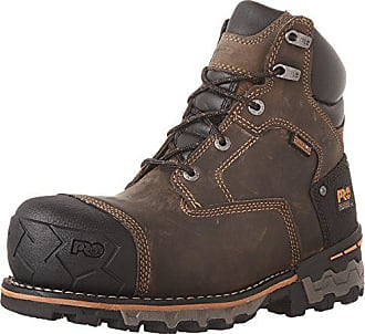 Timberland PRO Mens 6 Boondock WP CSA Work Boot, Brown Full-Grain Leather, 9.5 W US