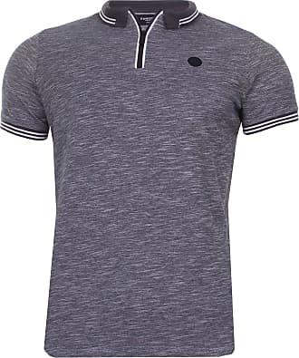 S Blue Kangol Mens Baldwin Short Sleeve Casual Polo Shirt T-Shirt