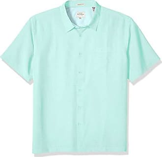 Quiksilver Waterman Mens Centinela 4 Comfort FIT Button Down Shirt, Yucca, L