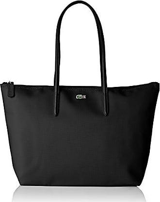 c9afc1403f Lacoste Sac Cabas Toile PVC Femme, Bandouliere, Noir (Black), 14x29.