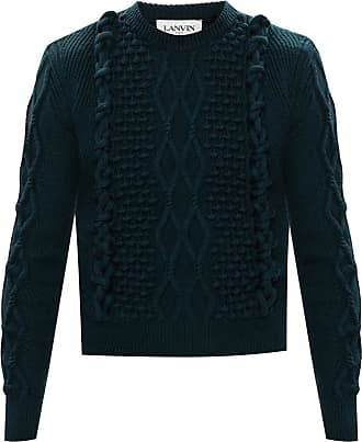 Lanvin Sweater With Knitted Details Mens Green