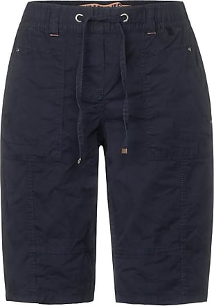Cecil Lockere Shorts aus Baumwolle - deep blue