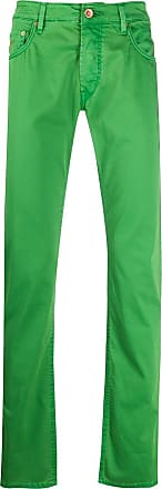 Hand Picked Calça jeans reta Ravello cintura média - Verde