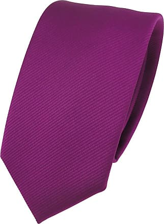 TigerTie narrow TigerTie Designer tie necktie magenta fuchsia violet all-one-color Rips