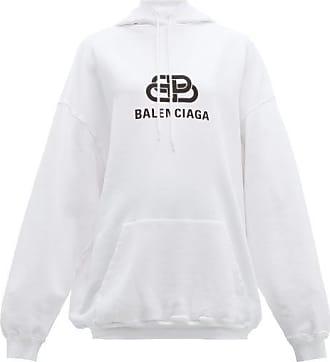 Balenciaga Femme Sweat shirt à capuche en coton Lilas Lave