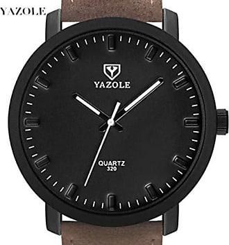 Yazole Relógio Esporte Chic Yazole D320 Pulseira de Couro (2)