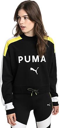 Puma Chase Womens Sweater Shirt, Cotton Black, size X Large, Clothing