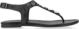 Inuovo Laura Flat Sandal, Black, 8 (41)