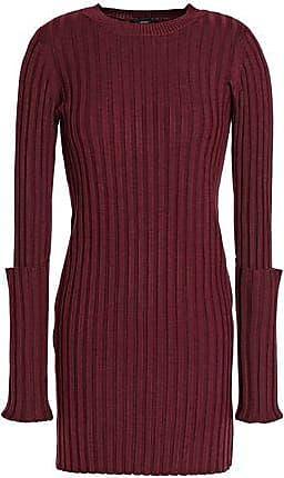 Joseph Joseph Woman Ribbed Merino Wool Sweater Burgundy Size L