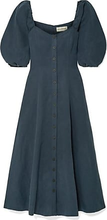 Mara Hoffman Mika Tencel And Linen-blend Maxi Dress - Navy