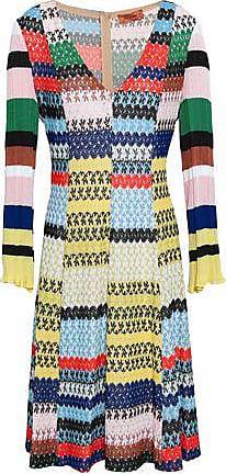 Missoni Missoni Woman Patchwork-effect Crochet-knit Dress Yellow Size 38
