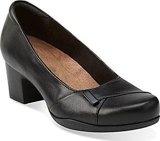 d389b972a0 Clarks Womens Rosalyn Belle Pumps, Black Leather, 10.5 M US
