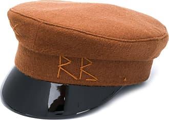 Ruslan Baginskiy vinyl brim baker boy hat - Marrom