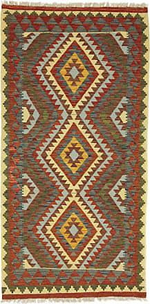 Nain Trading 205x101 Hand Woven Kilim Afghan Runner Grey/Brown (Wool, Afghanistan)
