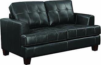 Coaster Fine Furniture 501689 Living Room Sofa Love Seat Sleeper, Black/Dark Brown