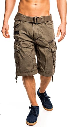 Geographical Norway Mens People Cargo Shorts - Grey - XX-Large