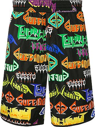 1585039fea Gucci Metal logo printed swim shorts - Black