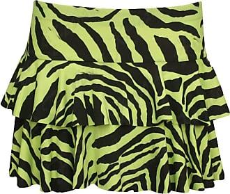 Top Fashion18 Womens Zebra Animal Print Black White Stretch RARA Short Mini Skirt Size 8-18