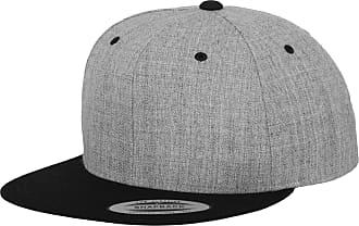 Yupoong Mens The Classic Premium Snapback 2-Tone Cap (One Size) (Heather/Black)