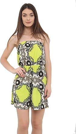 Momo & Ayat Fashions Ladies Printed Elasticated Stretch Waist Casual Bandeau Playsuit UK Size 8-14 (Yellow Chain, L/XL (UK 16-18))