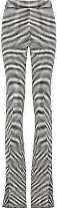 Giambattista Valli Giambattista Valli Woman Houndstooth Wool Bootcut Pants Gray Size 42