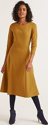 Boden Nancy Ponte-Kleid Gold Damen Boden