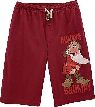 Disney Mens Snow White and The Seven Dwarfs Grumpy Lounge Shorts